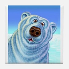 polar bear polar bears Tile Coaster