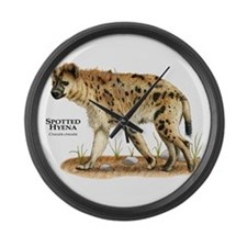 Spotted Hyena Large Wall Clock