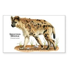 Spotted Hyena Rectangle Decal