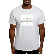 Expert Cunnilinguist Ash Grey T-Shirt