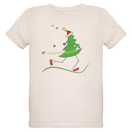 Christmas Tree Runner Organic Kids T-Shirt