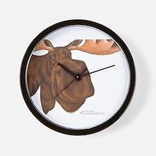 moose head antlers Wall Clock