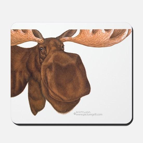 moose head antlers Mousepad