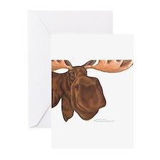 moose head antlers Greeting Cards (Pk of 20)