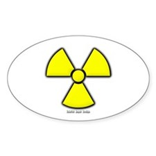 Radioactivity Oval Decal