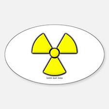 Radioactivity Oval Decal