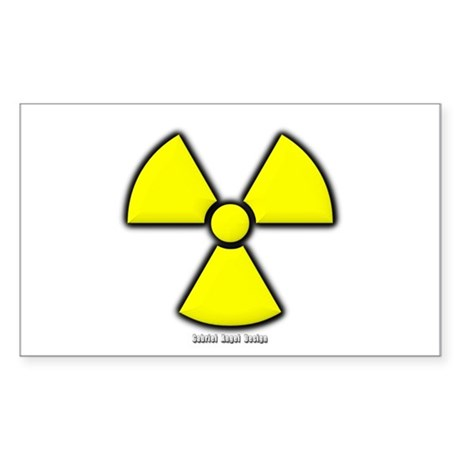 Radioactivity Rectangle Sticker