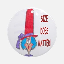 red hat size does matter Ornament (Round)