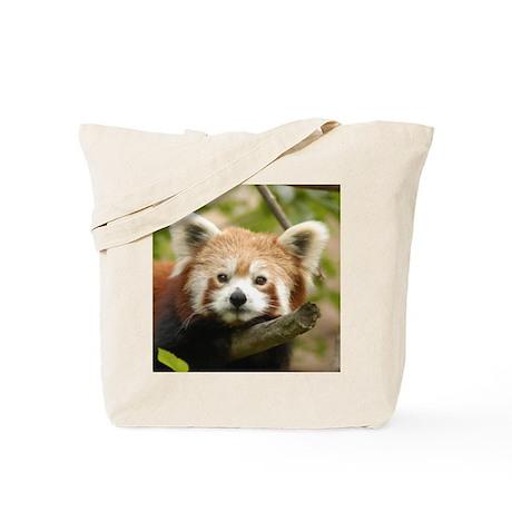 Red Chinese Panda Tote Bag