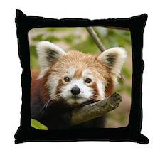 Red Chinese Panda Throw Pillow