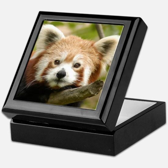 Red Chinese Panda Keepsake Box