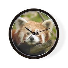 Red Chinese Panda Wall Clock