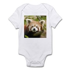 Red Chinese Panda Infant Creeper