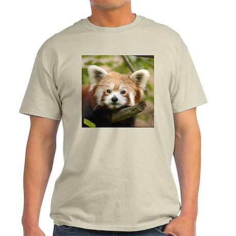 Red Chinese Panda Ash Grey T-Shirt