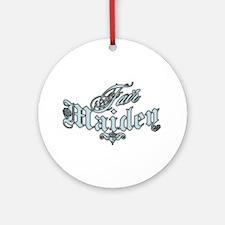 Fair Maiden Ornament (Round)
