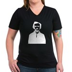 Edgar Allan Poe Women's V-Neck Dark T-Shirt