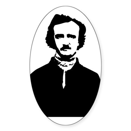 Edgar Allan Poe Sticker (Oval)