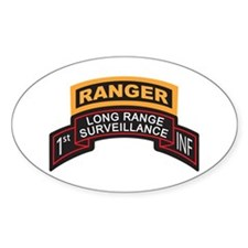 1st INF LRS Scroll with Range Oval Decal