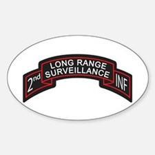 2nd INF LRS Scroll, Color Oval Decal