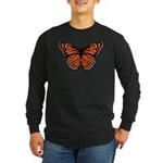 Butterfly Long Sleeve Dark T-Shirt