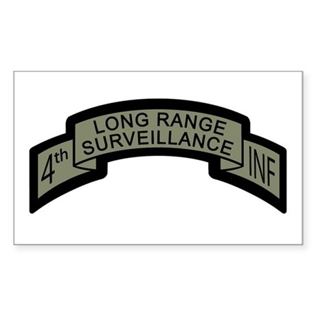 4th INF Long Range Surveillan Rectangle Sticker
