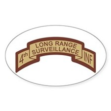 4th Infantry LRS Desert Oval Decal