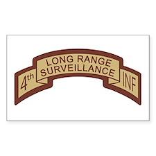 4th Infantry LRS Desert Rectangle Decal