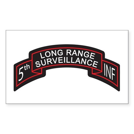 5th Infantry LRS Scroll, Clr Rectangle Sticker