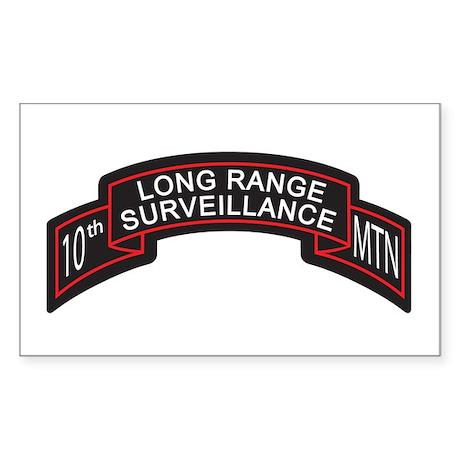 10th Mountain LRS Scroll, Clr Rectangle Sticker