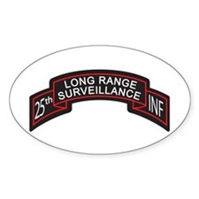 25th INF LRS Scroll Color Oval Decal