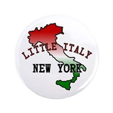 """Little Italy New York 3.5"""" Button"""