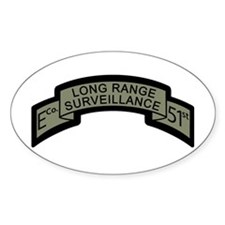 E Co. 51st Infantry Long Rang Oval Decal