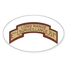 E Co 51st Infantry LRS Deser Oval Decal
