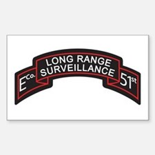 E Co 51st Infantry LRS Scroll Rectangle Decal