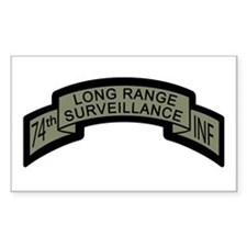 74th LRS Scroll with Ranger T Rectangle Decal