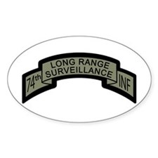 74th LRS Scroll with Ranger T Oval Decal