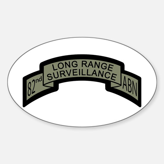 82nd Airborne Long Range Surv Oval Decal