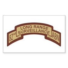82nd Airborne LRS Scroll, Des Rectangle Decal