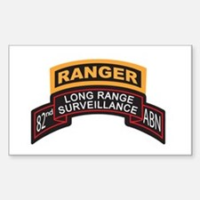 82nd ABN LRS Scroll with Rang Rectangle Decal