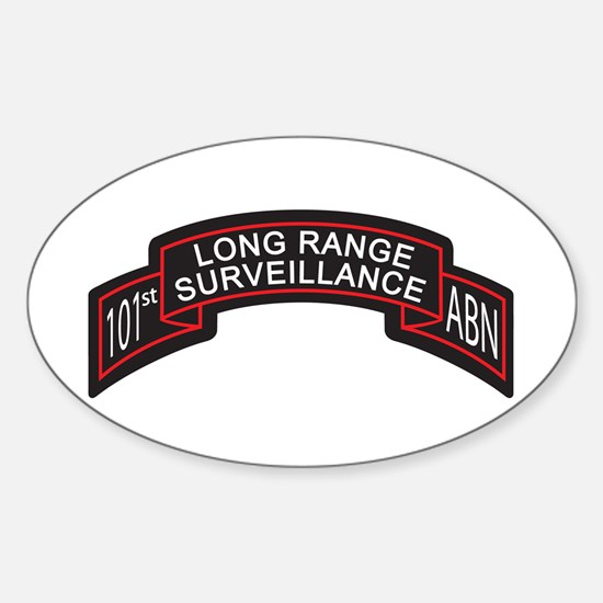 101st Airborne LRS Scroll, Cl Oval Decal