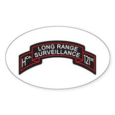 H Co 121st INF LRS Scroll Col Oval Decal