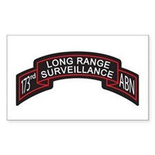 173rd Airborne LRS Scroll, Cl Rectangle Decal