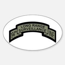 194th Infantry Long Range Sur Oval Decal