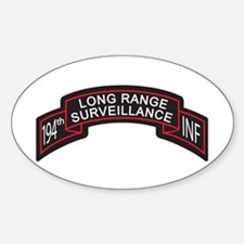 194th Infantry LRS Scroll, Cl Oval Decal