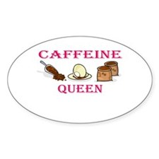 Caffeine Queen Oval Decal
