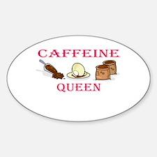 Caffeine Queen Oval Decal