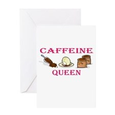 Caffeine Queen Greeting Card