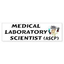 Medical Laboratory Scientist Bumper Car Sticker
