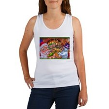Christmas poker game Women's Tank Top