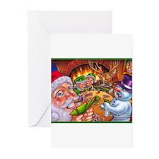 Christmas poker game Greeting Cards (Pk of 10)